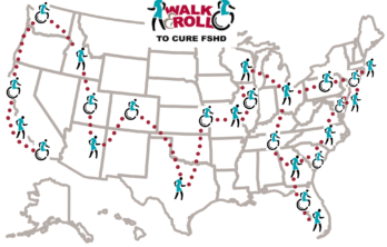 Walk & Roll to Cure FSHD Map